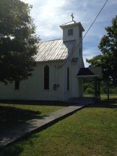 St. John's United Methodist Church  outside of Union,WV  [Businesses - Churches > Methodist] [Tourism - > Cemetery]  www.wvyourway.com  Union,WV