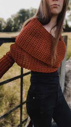 Ravelry: Sweater Wrap Scarf pattern by Carrie M Chambers Crochet Hair Bows, Crochet Scarves, Crochet Clothes, Knit Crochet, Crochet Sweaters, Sweater Scarf, Wrap Sweater, Scarf Wrap, Basic Crochet Stitches