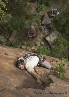 Rock Climbing in Robinson Park, Sandstone, MN #minnesota #minnesotaadventure #onlyinmn
