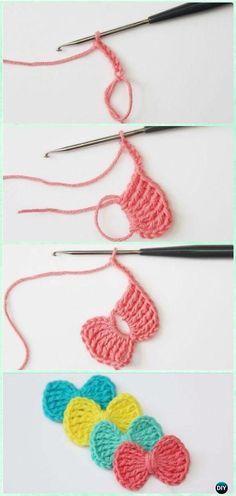 Easy Treble Stitch Bow FreePattern - Crochet Bow Free Patterns