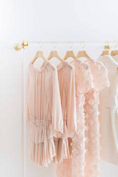 Pink fashionable clothing pieces: Crazy Beautiful Interiors in Every Shade of Pink - http://www.stylemepretty.com/living/2017/02/14/pretty-in-pink-interiors-in-honor-of-valentines-day/