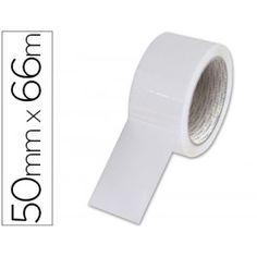 Cinta de embalaje de en polipropileno blanco económica, especial para cajas, embalajes y paquetería en general en oficinas, almacenes, talleres, etc...
