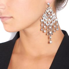 Bling it On.  rhinestone-encrusted pair of chandelier earrings $11