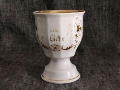 "antica tazza in porcellana ""Aus Liebe"" di EclecticAtmosphere su Etsy"