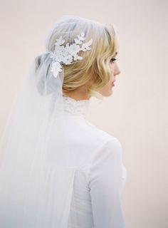 Juliet Bridal Wedding Veil, Lace Cap Veil, Ivory Bridal Cap Veil, Bridal Illusion Tulle, 1920's Cap Veil by veiledbeauty on Etsy https://www.etsy.com/listing/216807971/juliet-bridal-wedding-veil-lace-cap-veil