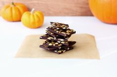picy Dark Chocolate Bark with Toasted Pumpkin Seeds and Sea Salt
