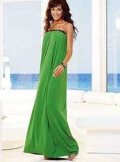 green strapless summer maxi dress 2010 c1aad61b025d