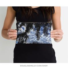 """""""A View from the Garden"""" Studio Pouch and Much More!  Available Exclusively from http://ift.tt/2i1uX76  Also available on cards tote bags pillows tops and much more!  #sky #garden #tree #silhouette  #clouds #nature #products #products #cards #clothing #arts #crafts #technology #iphone #cases #bags #totes #photography #prints #home #housewares #journals"""