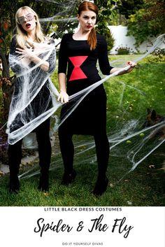 Do it yourself divas et and elliot halloween costume diy how to do it yourself divas diy spider and the fly halloween costumes how to turn the little black dress into the perfect diy halloween costume solutioingenieria Gallery