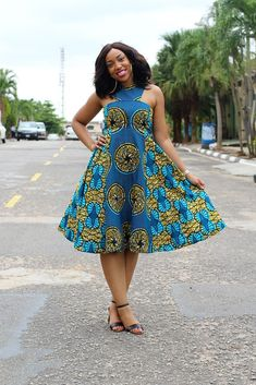 The most beautiful collection of Trendy Ankara Short Gown Styles, these ankara short gown styles have been trending for a long while you have to see them African Dresses For Women, African Print Dresses, African Attire, African Wear, African Fashion Dresses, African Women, Ghanaian Fashion, African Prints, African Style