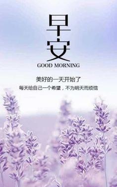 早安 Good Morning Beautiful Quotes, Good Morning Images, Good Morning Quotes, Good Morning Flowers, Good Morning Wishes, Comfort Quotes, Chinese Quotes, Morning Greetings Quotes, Positive Quotes