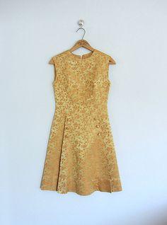 1960s brocade dress . vintage 60s cocktail dress by BlueFennel