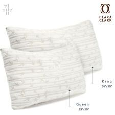 Memory Foam Luxurious Bamboo Pillow By Clara Clark King Queen Available Discount 87 Memory Foam Luxurious