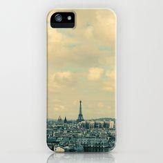 Paris In Blue iPhone Case