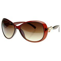 Designer Inspired Premium Quality Oversized Oval Rhinestone Sunglasses