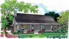 Country home house plans rustic country style ranch house with covered porch rustic country home house Cottage Style House Plans, Ranch House Plans, Country House Plans, Small House Plans, House Floor Plans, Cottage Plan, Ranch Style Homes, Country Style Homes, Br House