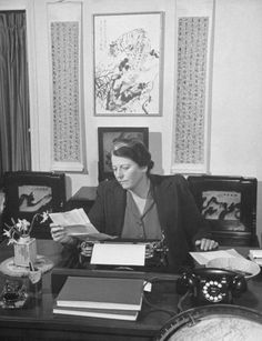 Pearl Buck. Photos of writers at work - Boing Boing