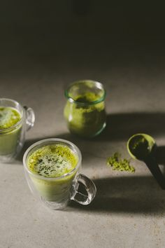 matcha green tea latte.