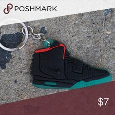 afed592d Nike Yeezy 2 NRG Black Solar Shoe Keychain •Item is 2D and one sided,