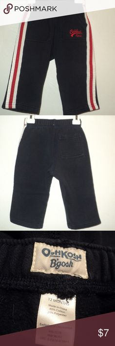 8958575fd2 OshKosh B'gosh Boys 12 Months Navy Athletic Pants OSHKOSH B'GOSH INFANT  BOY'S