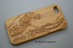 wave Bamboo wood iphone case Wood iphone 4 by jackgallaryplace