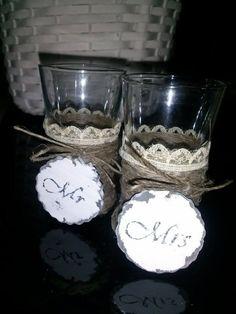 kieliszki vintage na ślub