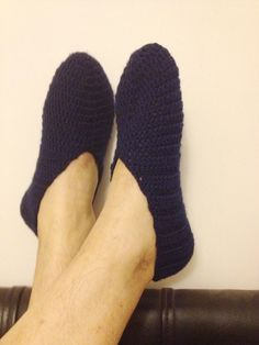 Men Dark blue crochet Booties Home slippers , boss, Gifts For men for dad fathers day #Booties #lux
