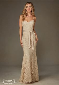 Shop Morilee's Elegant Beaded Lace Morilee Bridesmaid Dress with Spaghetti Straps. Elegant Beaded Lace Bridesmaid Dress with Spaghetti Straps Designed by Madeline Gardner. Mori Lee Bridesmaid Dresses, Champagne Bridesmaid Dresses, Lace Bridesmaid Dresses, Wedding Party Dresses, Champagne Long Dress, Champagne Colour, Gold Bridesmaids, Wedding Champagne, Wedding Reception