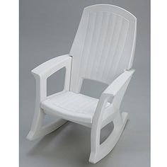 Practice green living while making your neighbors green with envy with theSemco Plastic Rocking Chair, crafted entirely from recycled materials. Scratch- and stain-resistant, this chair is built to withstand harsh conditions and features simple assembly. White Rocking Chairs, Wooden Rocking Chairs, Outdoor Rocking Chairs, Old Chairs, Cafe Chairs, Patio Chairs, Dining Chairs, Ikea Chairs, High Chairs