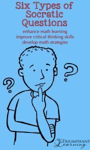 Using Socratic questions for math learning helps students develop critical thinking skills and math strategies. It is also a form of math narration.