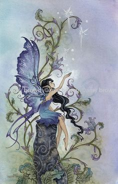 "Officially licensed Amy Brown canvas art available at TouCanvas! Fairies, Mermaids, Dragons, & More! - ""Creation"""