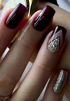 - # Nails - www. – # Nails www. Elegant Nails, Classy Nails, Fancy Nails, Stylish Nails, Trendy Nails, Hair And Nails, My Nails, Nagellack Trends, Pretty Nail Art