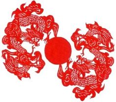 Pictures of chines drangons | Chinese Papercutting -- Chinese names and characters