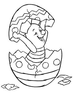 Easter coloring pages inspired by the Disney movie Puh Bear Easter Coloring Pictures, Easter Egg Coloring Pages, Easter Pictures, Flower Coloring Pages, Cartoon Coloring Pages, Disney Coloring Pages, Colouring Pages, Coloring Pages For Kids, Coloring Books