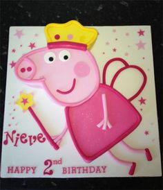 Peppa Pig Cake 3rd Birthday Cakes, Happy 2nd Birthday, Pig Birthday, 3rd Birthday Parties, Pig Cakes, Disney Themed Cakes, Pig Party, Peppa Pig, Party Cakes