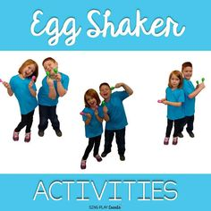 Shake 'em up with some egg shakers! lol have some end of year fun with egg shaker activities. Are you teaching preschoolers? These activities are perfect for you-- I mean- them! Preschool Music Activities, Movement Activities, Class Activities, Teaching Music, Teaching Kids, Kids Learning, Dance Class Games, Ukulele, Egg Shakers