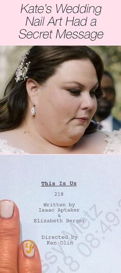 "Chrissy Metz shared a secret about Kate's wedding nails on ""This Is Us."" See the touching tribute nails that were her ""something blue"" at the wedding — click above!"