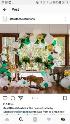 Baby boy party decorations jungle safari 40 Ideas for 2019 Jungle Theme Parties, Jungle Theme Birthday, Safari Party, Baby Birthday, Jungle Safari, Birthday Ideas, Baby Shower Decorations For Boys, Baby Shower Themes, Birthday Decorations