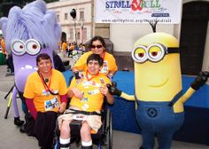 """More than 1,700 people, including corporate teams, AbilityFirst participants and families, walked, strolled and ran viewing movie backdrop sets at Universal Studios Backlot. AbilityFirst Honorary Chairs Jaclyn Smith and Lee Meriwether formed their own teams. Other special guest included """"The Minions"""" and the Laker Girls!"""