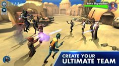 Star Wars Galaxy of Heroes jeux android , free apps android Star Wars Galaxy of Heroes : Collect your favorite Star Wars characters, like Luke Skywalker, Star Wars Film, Star Wars 7, Star Wars Love, Star Wars Rebels, Lego Star Wars, Luke Skywalker, Yu Gi Oh, Film Trailer, Electronic Arts