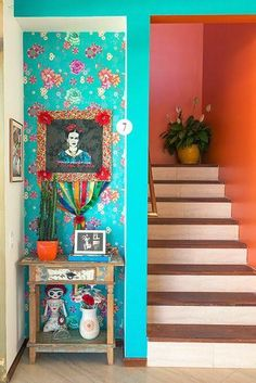 boho home bohemian life exotic interiors & exteriors eclectic space boho design decor gypsy inspired nontraditional living elements of bohemia Colorful Interior Design, Colorful Interiors, Mexican Interior Design, Asian Interior, Deco Interiors, Interior Colors, Interior Ideas, Deco Boheme Chic, Boho Chic