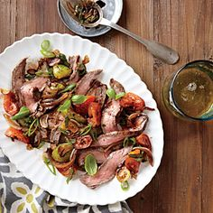 Flank Steak with Tomato-Balsamic Sauce | CookingLight.com #myplate #protein