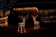 house christmas lights house with christmas icicle and reindeer lights free high resolution