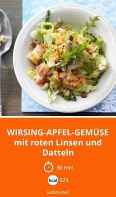Wirsing-Apfel-Gemüse - mit roten Linsen und Datteln - smarter - Kalorien: 574 Kcal - Zeit: 30 Min. | eatsmarter.de
