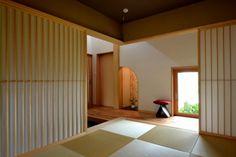 Japanese Interior Design, Japanese Design, Modern Interior, Natural Interior, Japanese Architecture, Interior Architecture, Tatami Room, Japanese Colors, Colour Board