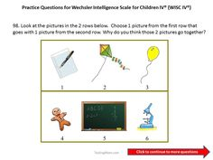 Practice Questions for the WISC-IV 5th and 6th grade
