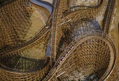 Aerial view of Roar Rollercoaster, Six Flags, Baltimore, USA Aerial Photography, Landscape Photography, Maryland, Six Flags America, Roller Coaster Ride, Roller Coasters, Amusement Park Rides, Fun Fair, Advertising Photography