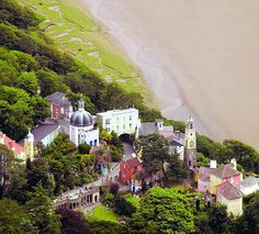 A colourful village set in the Welsh countryside: Portmeirion was a favourite haunt of The Beatles, the place where Noël Coward wrote Blithe Spirit and the home of Sixties TV show The Prisoner Uk Destinations, Colourful Buildings, Kingdom Of Great Britain, Republic Of Ireland, British Isles, Places To See, Countryside, Travel Inspiration, Scenery