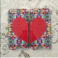 1 hour sale!🎉IPhone 6 or 6s heart case ❤️ These cases are super cute. They come with a silicone case and a hard shell, which will protect your phone. Price includes 2 cases. ❤️ Get one for you and your BFF 💕   (brand new in the box) Three Bird Nest Accessories Phone Cases