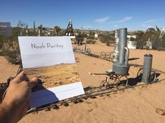 Noah Purifoy Foundation - Joshua Tree, CA, United States. Grab a brochure from the box and head in to the maze of sculptures!